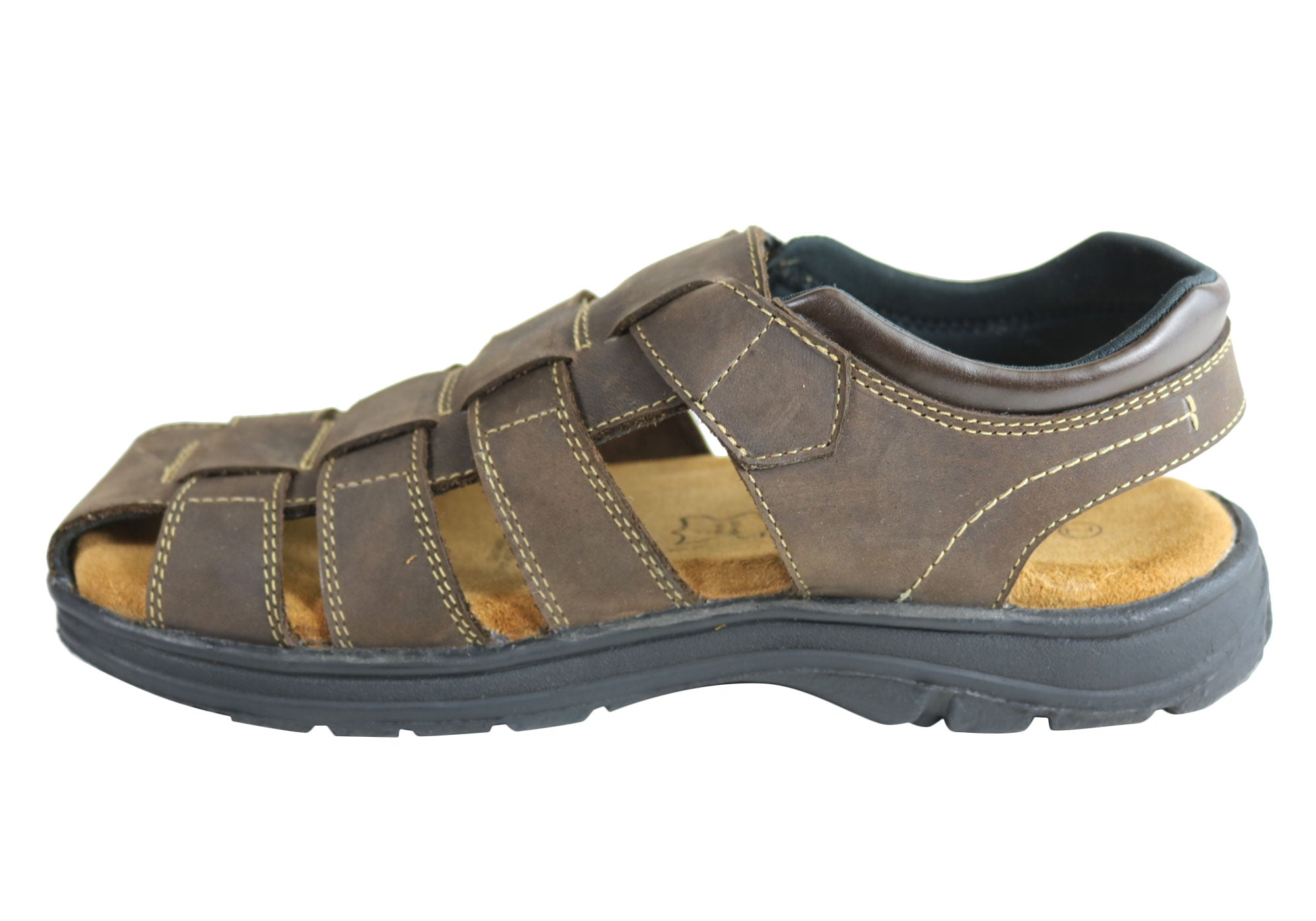73c720a9fe5 Woodlands Legion Mens Comfortable Cushioned Closed Toe Leather Sandals
