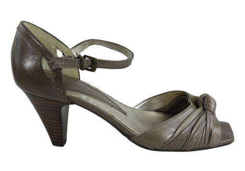 Orizonte Bayla Womens Leather Comfortable Mid Heel Sandals