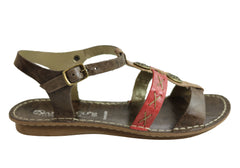 Andacco Madisson Womens Comfort Flat Leather Sandals Made In Brazil