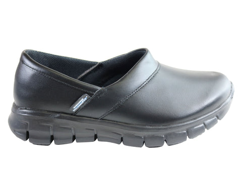 Skechers Womens Sure Track Bernal Slip Resistant Leather Work Shoes