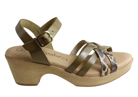 Lola Canales Madam Womens Comfortable Leather Sandals Made In Spain