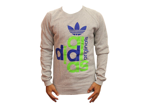 Adidas Originals Mens Graphic Crew Neck Jumper Factory Seconds
