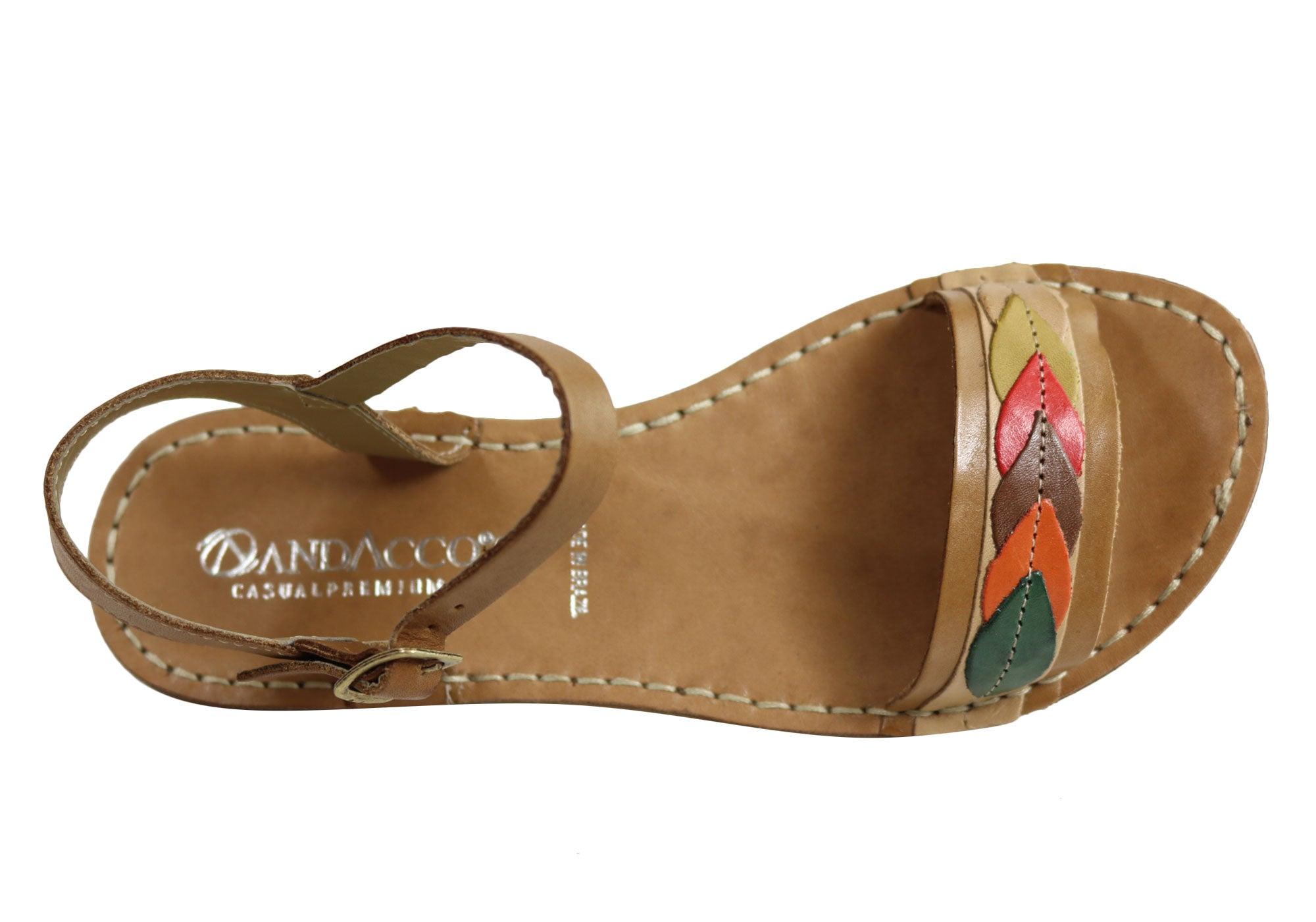 80549571f1f Andacco Petal Womens Comfortable Flat Leather Sandals Made In Brazil ...