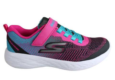 Skechers Go Run 600 Dazzle Strides Kids Girls Slip On Athletic Shoes