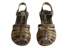 Andacco Eldro Womens Comfortable Flat Leather Sandals Made In Brazil