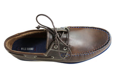 Wild Rhino Byron Mens Comfortable Leather Boat Shoes Casual Shoes
