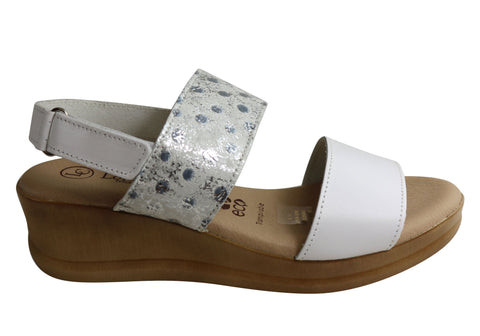 Lola Canales Ava Womens Comfort Leather Wedge Sandals Made In Spain