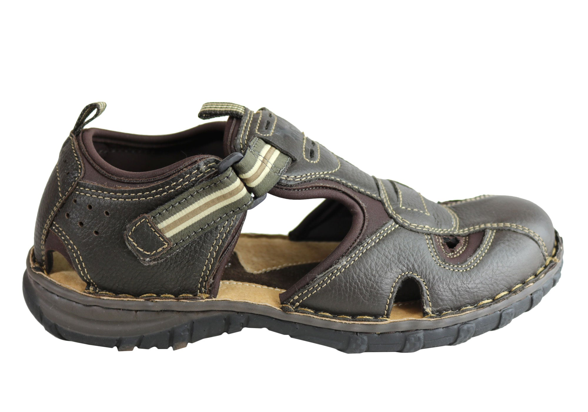 234f391e1090 Wild Rhino Pitt Mens Comfortable Leather Closed Toe Sandals Shoes ...