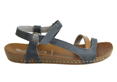 Andacco Mission Womens Comfortable Flat Leather Sandals Made In Brazil