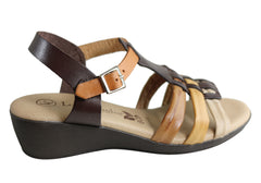 Lola Canales Yvette Womens Comfortable Leather Sandals Made In Spain