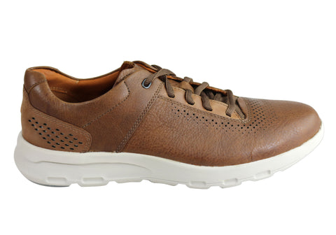 Rockport Mens Lets Walk Plaintoe Lace Up Comfortable Casual Shoes