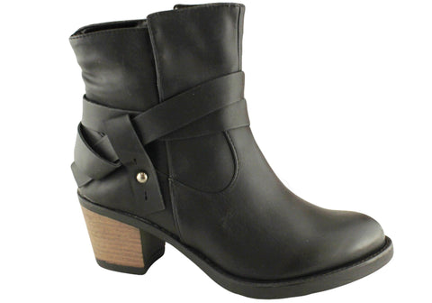 Lavish Palm Womens Mid Heel Ankle Boots