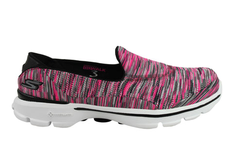 Skechers Go Walk 3 Crazed Womens Comfortable Slip On Casual Shoes