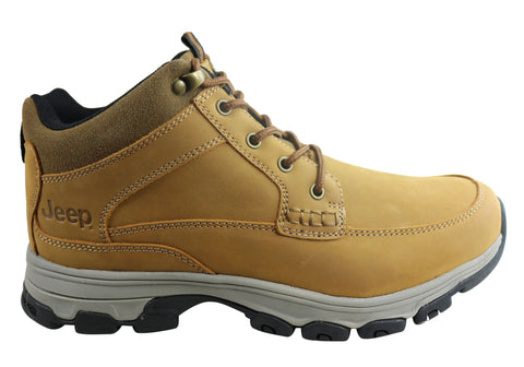 Jeep Mens Teton Leather Comfortable Durable Lace Up Boots