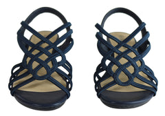 Bellissimo Franny Womens Comfortable Strappy Low Wedge Fashion Sandals