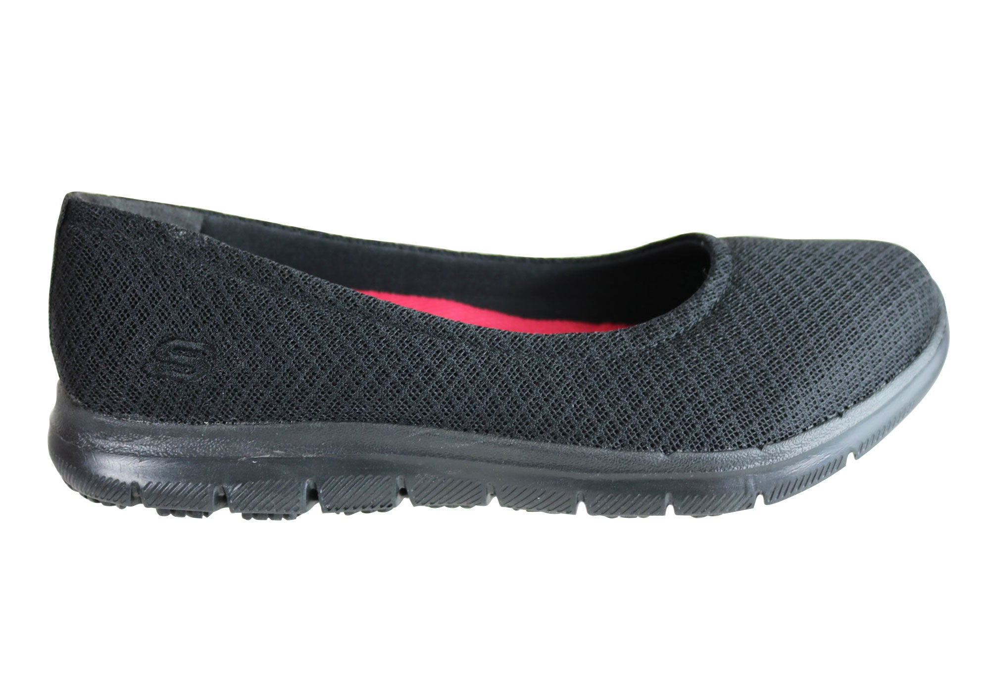 0ea6252eb57 Home Skechers Womens Relaxed Fit Ghenter Niota Slip Resistant Work Shoes.  Black ...