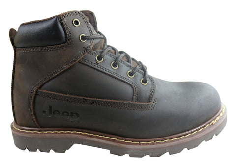 Jeep Mens Legacy Leather Comfortable Durable Lace Up Boots