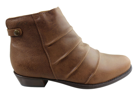 Andacco Avenue Womens Leather Comfortable Ankle Boots Made In Brazil