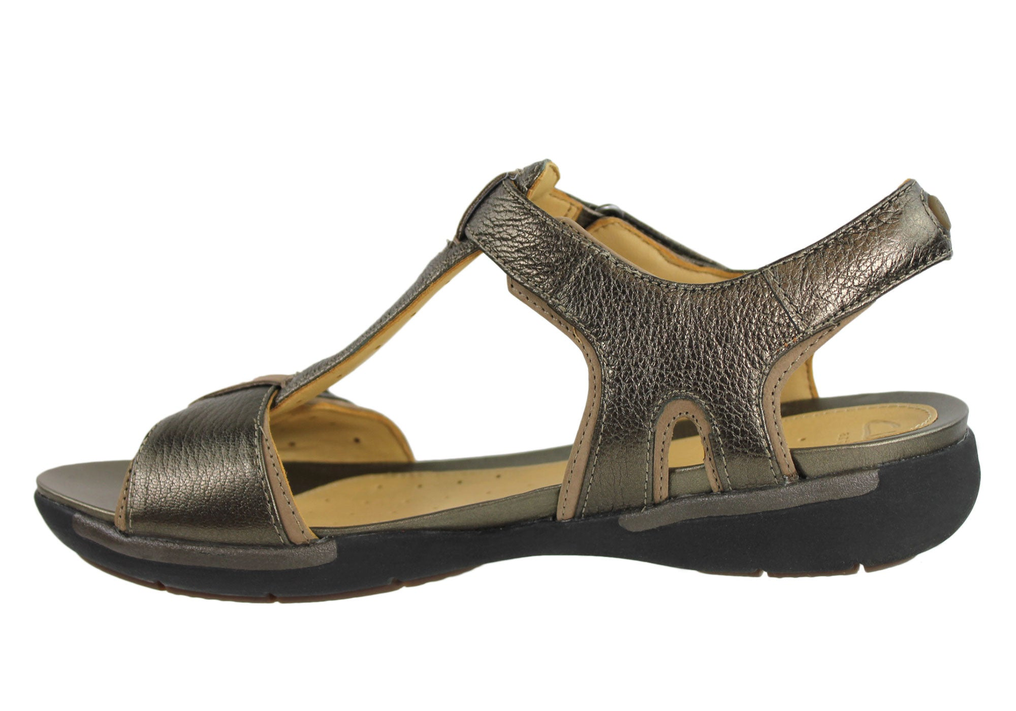 Clarks Un Voshell Womens Leather Comfortable Sandals