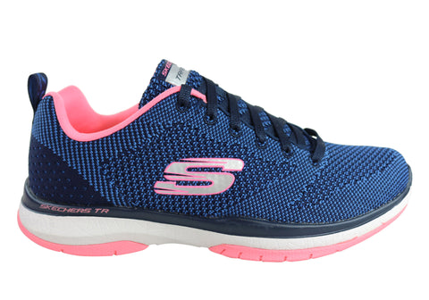 Skechers Burst Tr Close Knit Womens Lace Up Memory Foam Shoes