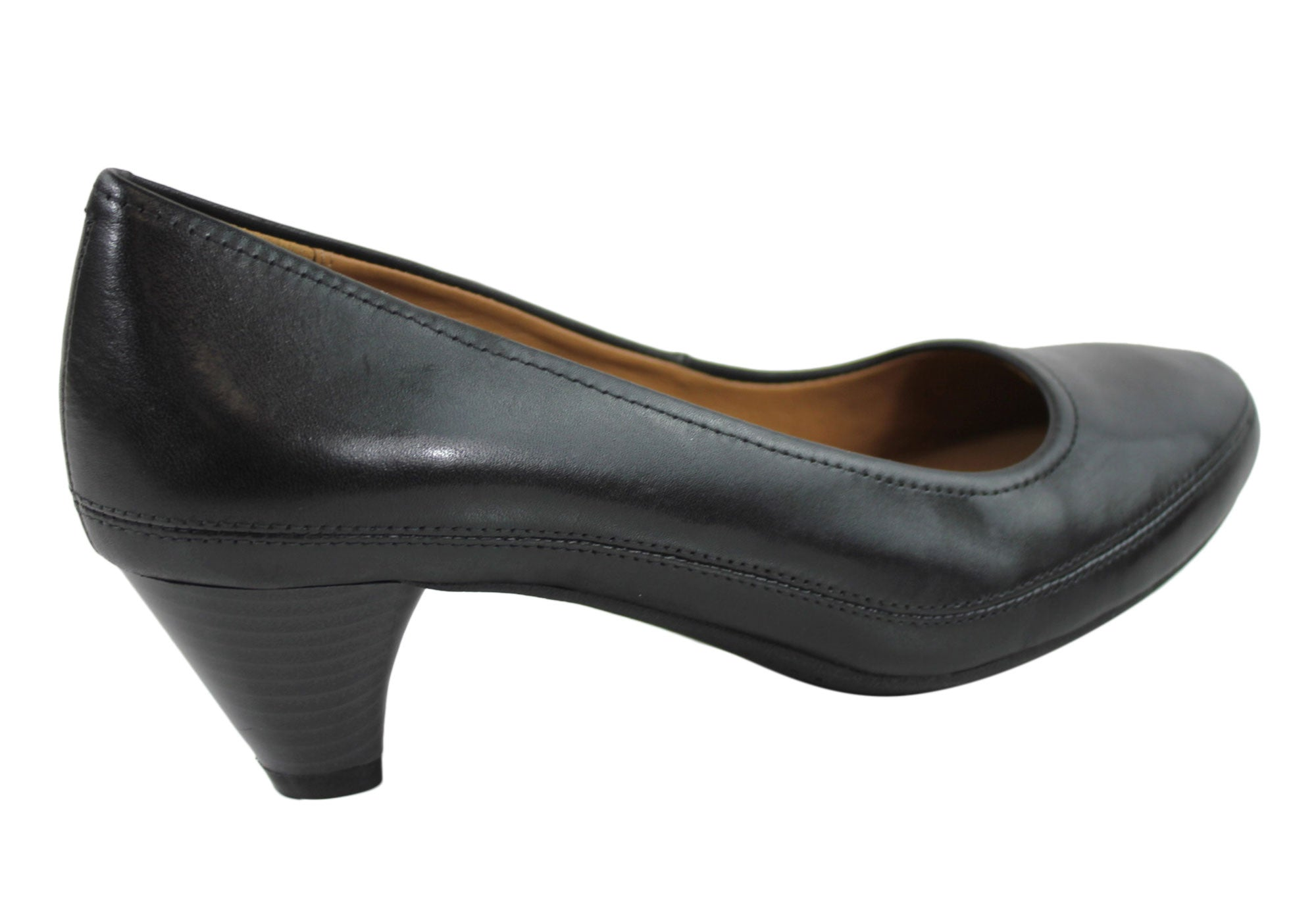 Clarks Denny Mellow Womens Leather Court Shoes