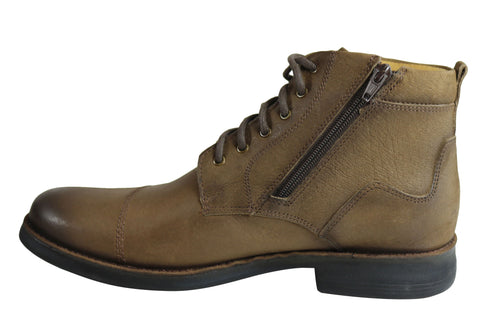 Ferricelli Bunbury Mens Comfortable Leather Boots Made In