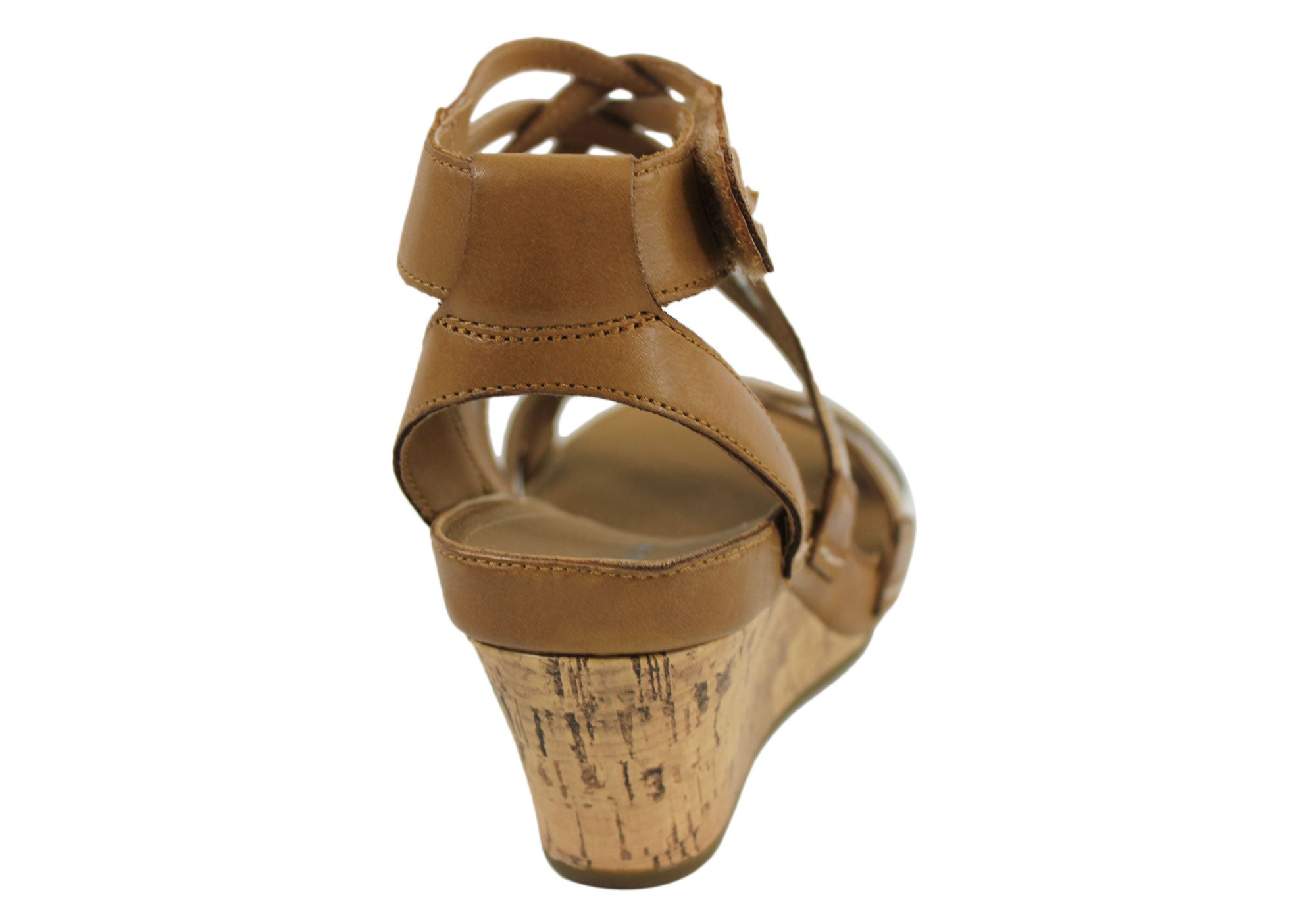 Clarks Rusty Free Womens Leather Wedge Heel Sandals