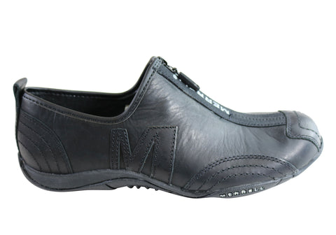 Merrell Barrado Luxe Womens Leather Comfort Flat Casual Zip Shoes