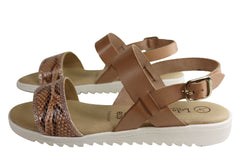 Lola Canales Bridgette Womens Comfort Leather Sandals Made In Spain
