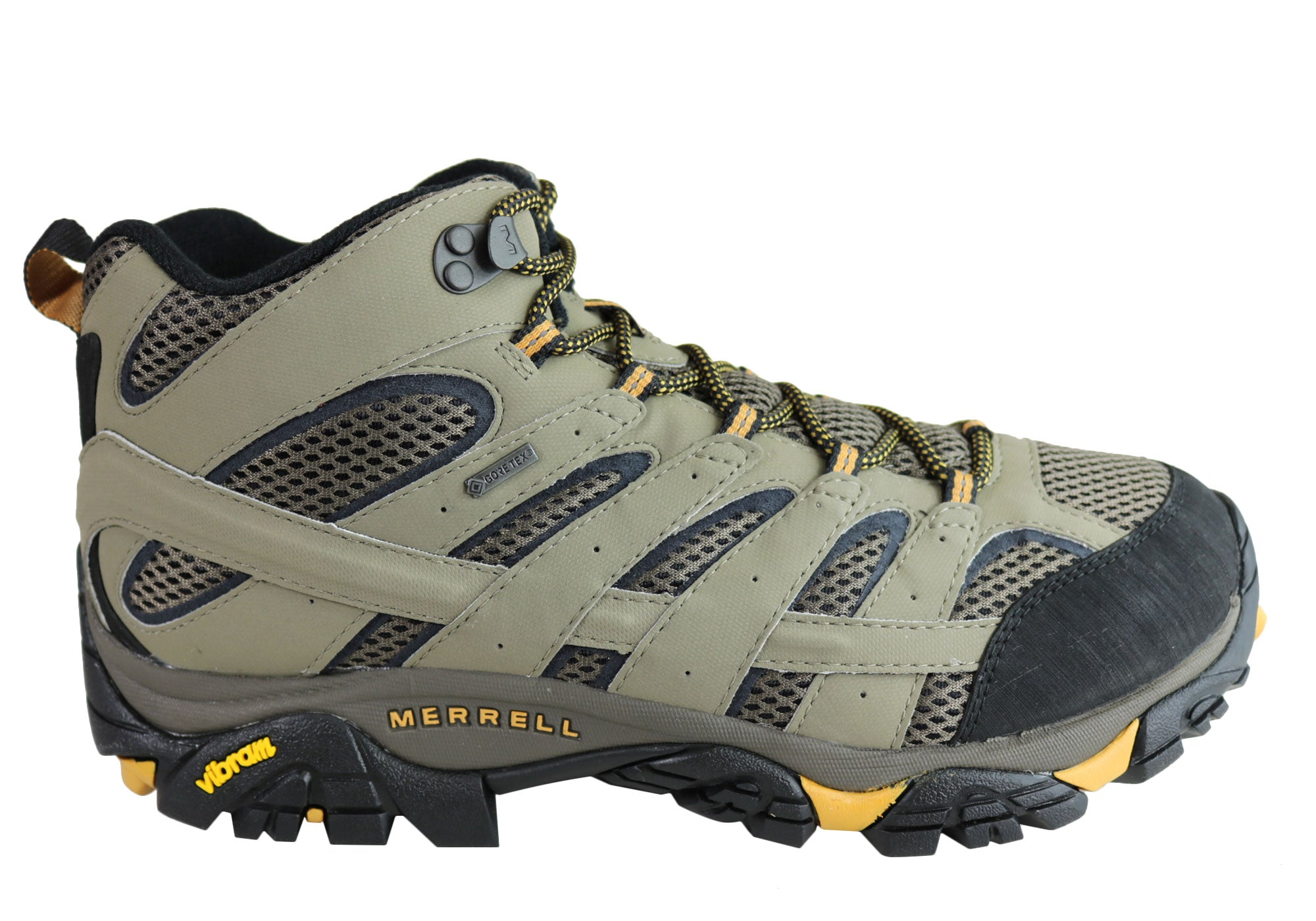 4a418b5a47e Merrell Mens Moab 2 Mid Gore Tex Waterproof Wide Width Hiking Boots