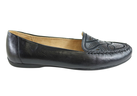 Naturalizer Rumer Womens Comfortable Wide Fit Leather Flat Loafers