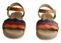 Lola Canales Vivian Womens Comfortable Leather Sandals Made In Spain
