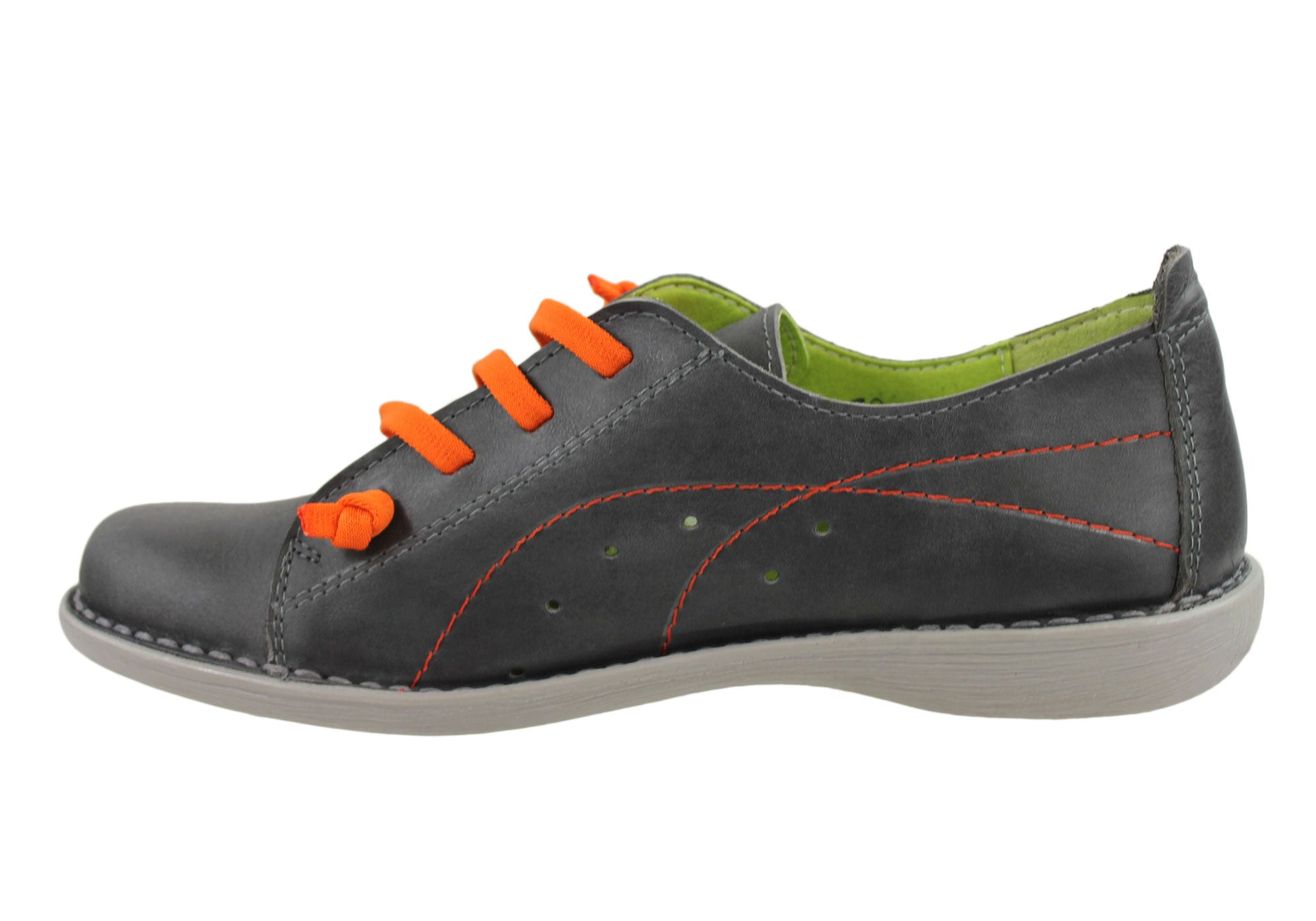 Jungla 6021 Womens Leather Casual Shoes Made In Spain