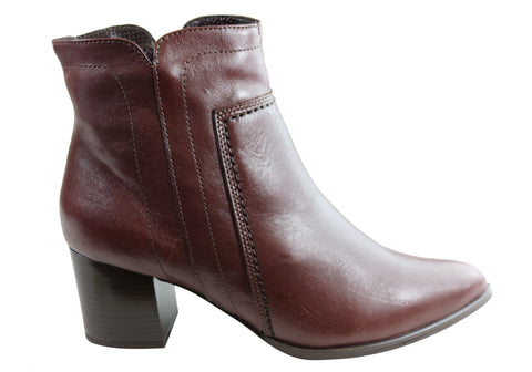 Orcade Kamee Womens Comfortable Leather Ankle Boots Made In Brazil