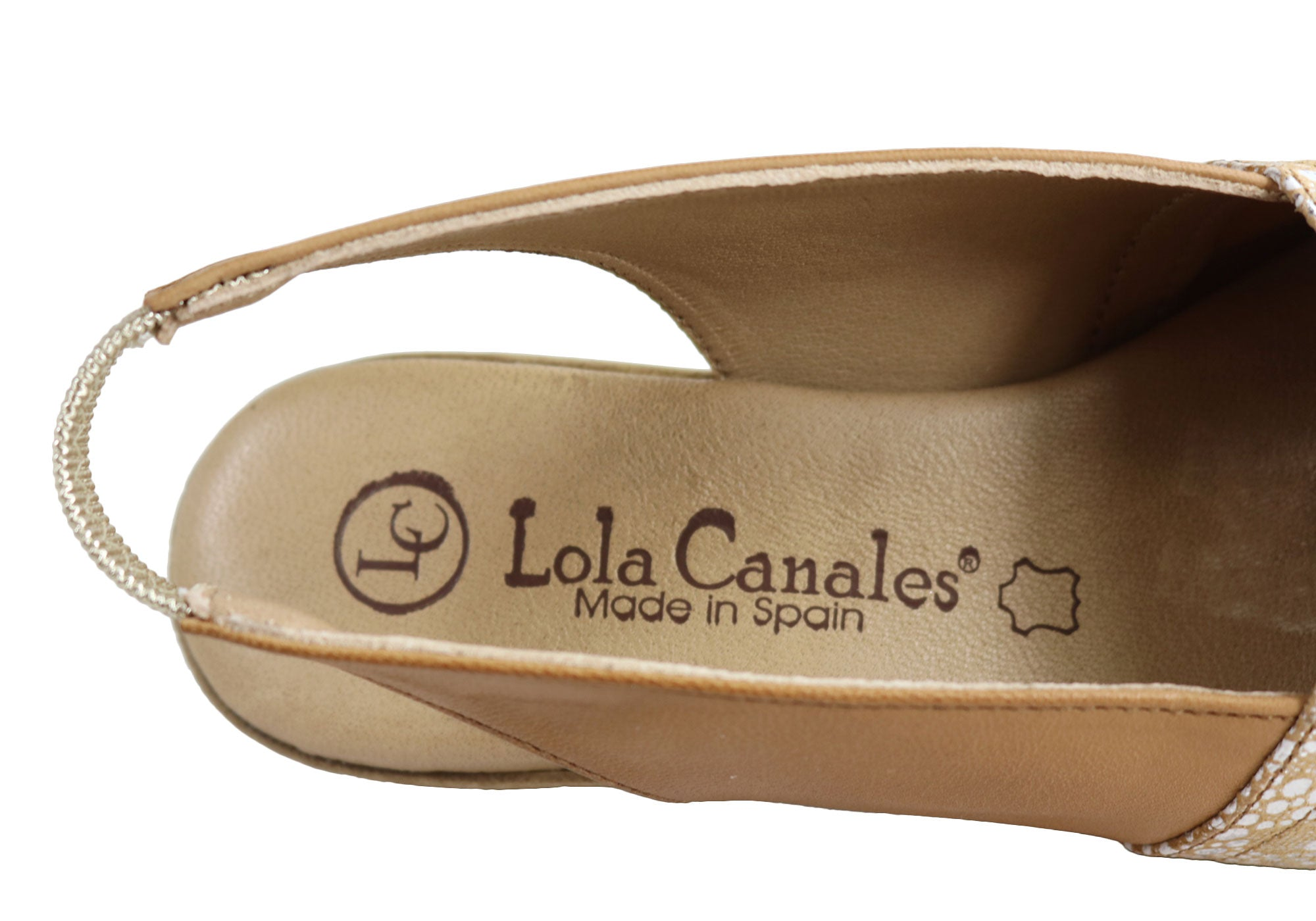Lola Canales Lulu Womens Comfort Leather Wedge Sandals Made In Spain