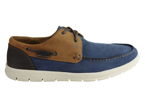 Ferricelli Anchor Men Cushioned Casual Comfort Leather Lace Up Shoes