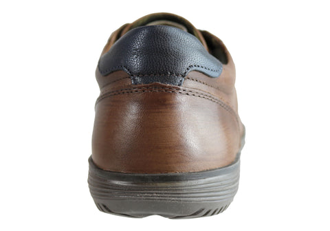 NEW FERRICELLI FABIAN MENS LEATHER LACE UP CASUAL SHOES MADE IN BRAZIL