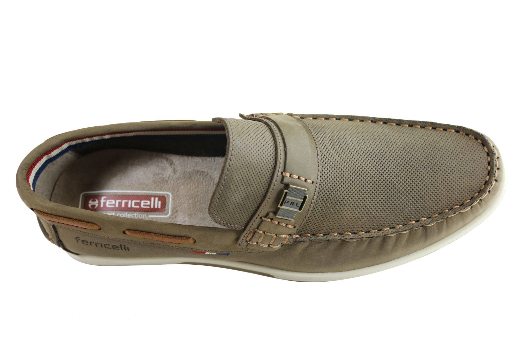 Ferricelli Connor Mens Leather Casual Loafer Shoes Made In Brazil