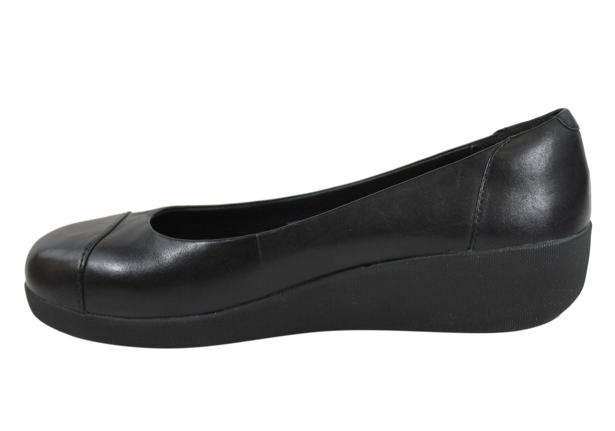 Fitflop F-Pop Ballerina Womens Leather Comfort Shoes