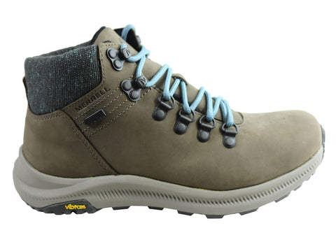Merrell Womens Ontario Mid Waterproof Comfortable Hiking Boots