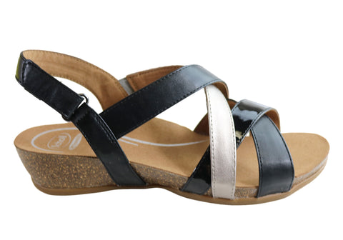 Scholl Orthaheel Jillian Womens Comfortable Supportive Wedge Sandals