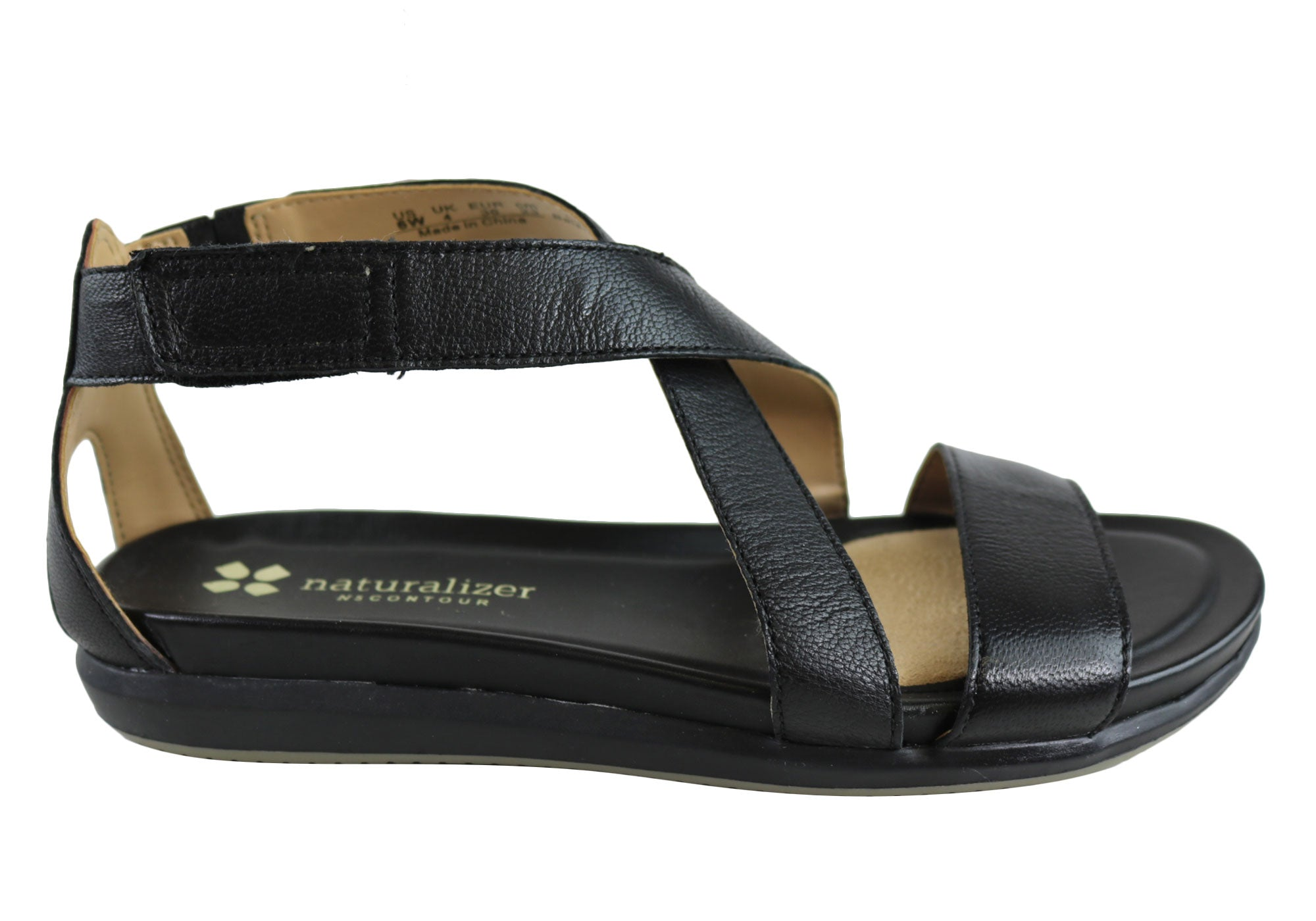 d871a80def Home Naturalizer Sashe Womens Comfortable Leather Closed Back Sandals.  Black ...
