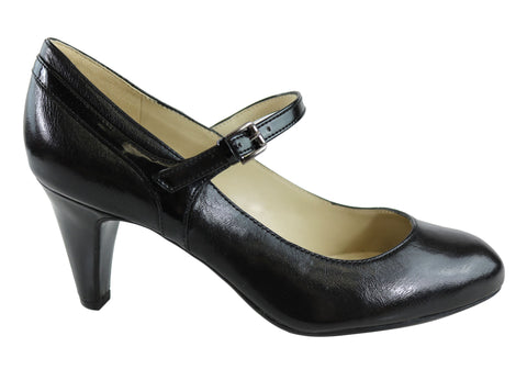 Naturalizer Orianne Womens Leather Mid Heel Mary Jane Classic Pumps