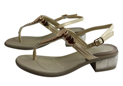 Scholl Bioprint Chrysilla Womens Low Heel Sandals With Comfort Footbed