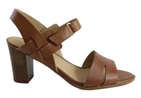 Naturalizer Lyla Womens Comfort Medium Width Leather Block Heel Sandal