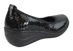 Cabello Comfort Womens Leather Wedges Made In Turkey