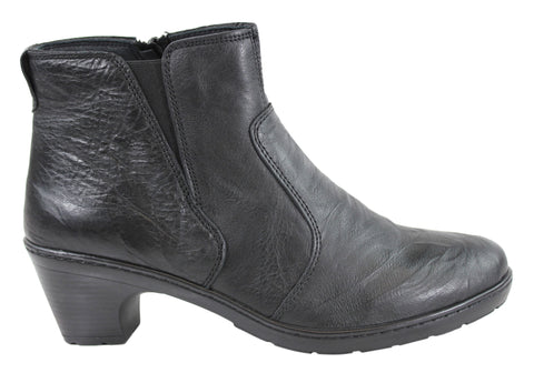 Cabello Womens Leather Ankle Boots Made In Turkey