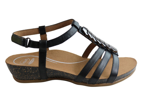 Scholl Orthaheel Josephine Womens Comfortable Supportive Wedge Sandals