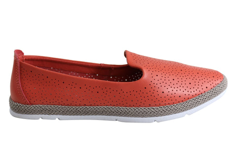 Bellissimo Jody Womens Leather Comfort Transeasonal Casual Flat Shoes