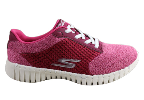 Skechers Go Walk Smart Influence Womens Comfortable Lace Up Shoes
